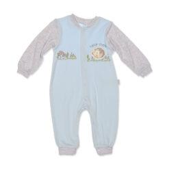 Bebengo 3035 Kirpili Erkek Bebek Tulum Mavi