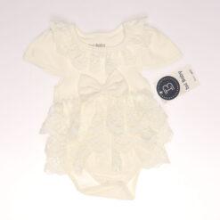 Işıl Baby 101 Sıra Dantelli Kız Bebek Elbise Ekru