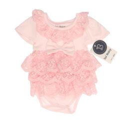 Işıl Baby 101 Sıra Dantelli Kız Bebek Elbise Pembe