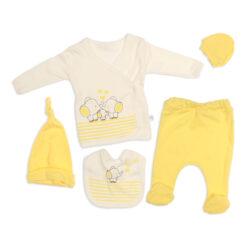 Nonna Baby 5652 Filli 5 Li Set Sarı 0-3 Ay